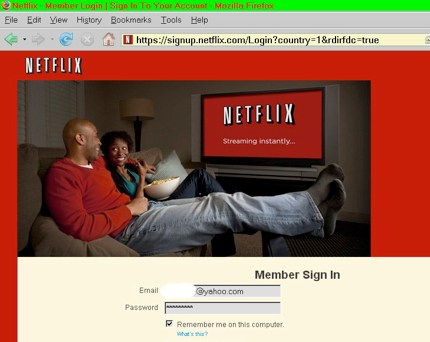 Trouble logging into netflix