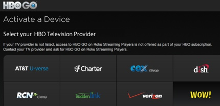 Can't sign in to HBO GO on Samsung TV – HBO GO
