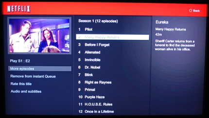 Hacking NetFlix : Netflix PS3 Update Now Supports Seasons for TV Shows