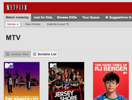 Do you want Netflix to list shows by channel?